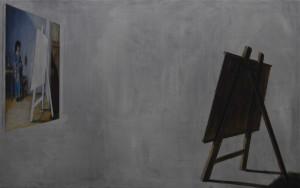 Rembrandt's staffeli, 100x180, 2013