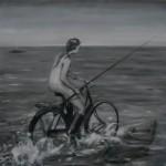 Cykel, hav, 125x125, 21011