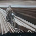 Motorcykel / Motorbike, 80x100, 2006