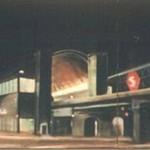 Nørrebro Station om natten. Hænger i dag på et DSB-kontor.