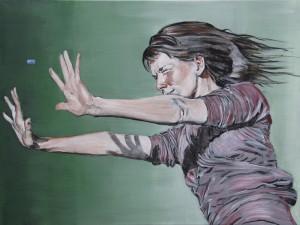 Kvinde-kugle 1, 60×80, 2016