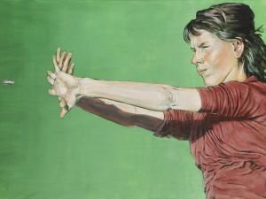 Kvinde-kugle, 60×90, 2016