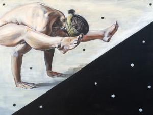 Yogini-hello darkness, 80×120, 2016