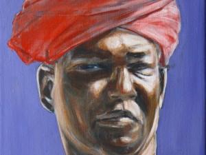 Red turban, 41×33, 2016/17