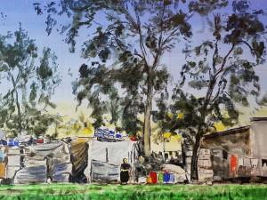Tent 1, Refugee camp, Akkar, Lebanon, 2017