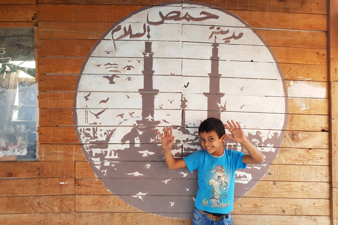 Wallpaintings, Syrian Refugeecamps, Akkar, North Lebanon, 2017 / 2018